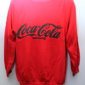 "Other - 80's Vintage ""COCA-COLA"" Big Logo Sweatshirt"